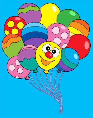 balon: Various color balloons - vector illustration.