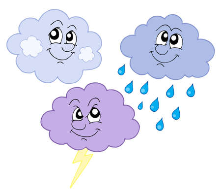 Various cute clouds - vector illustration. Vector