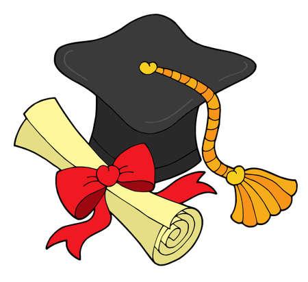 Abschluss hat und blättern - Vektor-Illustration. Vektorgrafik