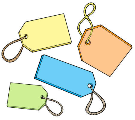 Various color tags for sale - vector illustration. Stock Vector - 3361864