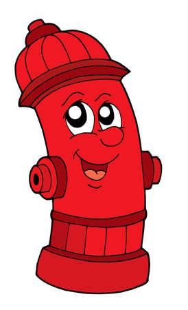 Cute roja boca de incendios - ilustración vectorial.
