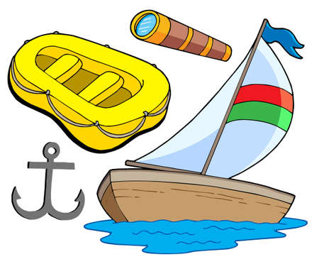 Boat and sailing collection - vector illustration. Vector