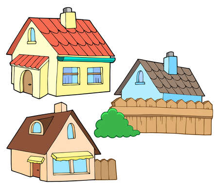 sell house: Collection of various houses - vector illustration.