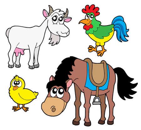 Farm animals collection 2 - vector illustration. Stock Vector - 3429874