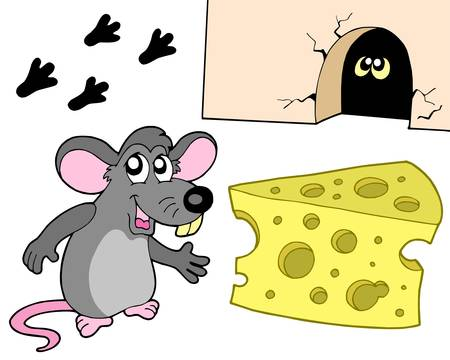 eye hole: Mouse collection on white background - vector illustration. Illustration