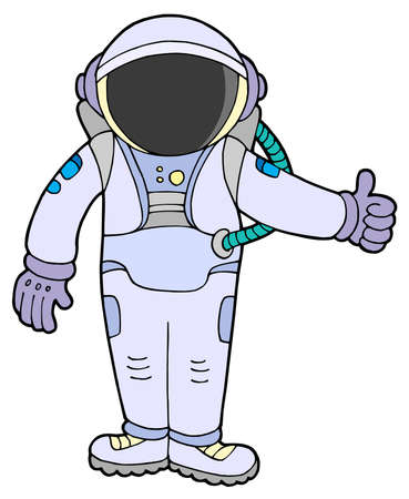spacesuit: Astronaut on white background - vector illustration.