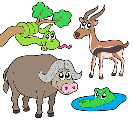 African animals collection 2 - vector illustration. Illustration