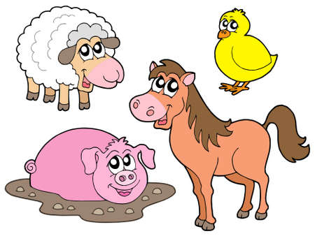 Country animals collection - vector illustration. Stock Vector - 3538449
