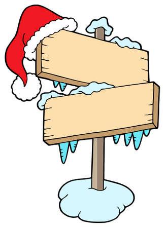 Frozen sign with cap - vector illustration. Stock Vector - 3571265