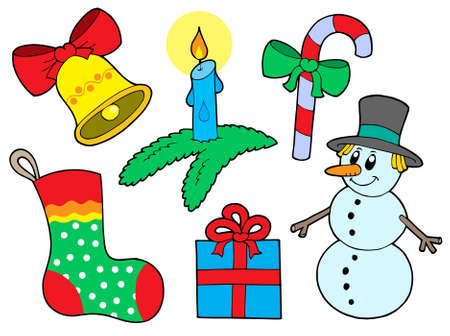 Christmas collection 3 on white background - vector illustration. Vector