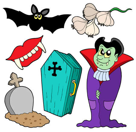 phantom: Vampire collection on white background - vector illustration.