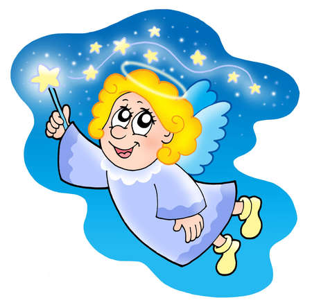 Cute angel with magical wand Stock Photo - 3763149