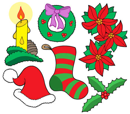 Isolated Christmas images - vector illustration. Vector