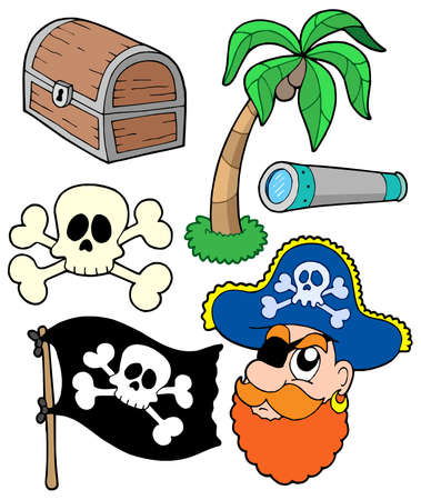 Pirate collection 2 - vector illustration. Vector