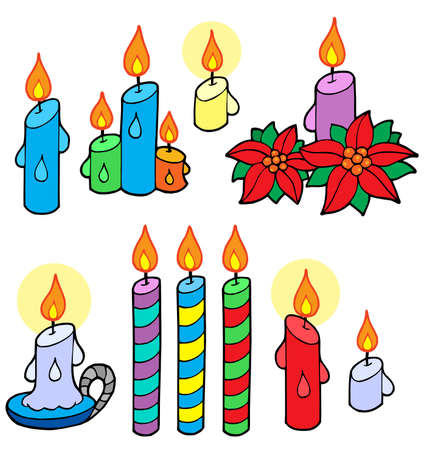 Candles collection - vector illustration. Vector