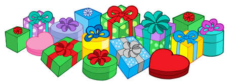 Lots of gifts - vector illustration. Vector
