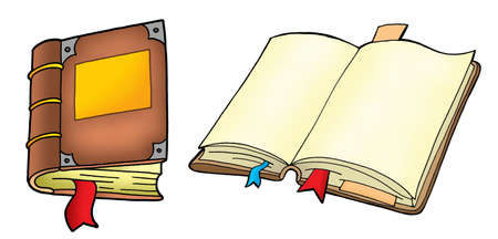 Two books on white background - vector illustration. Stock Illustration - 3899653