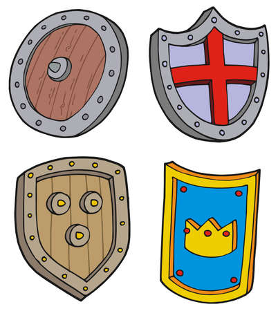 protecting: Shield collection - vector illustation.