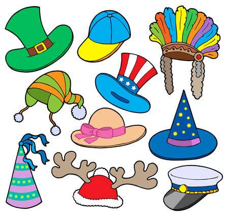 sprite: Varios sombreros de recogida 2 - ilustraci�n vectorial. Vectores