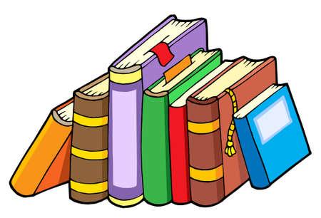Line verschiedener Bücher - Vektor-Illustration. Standard-Bild - 3952974