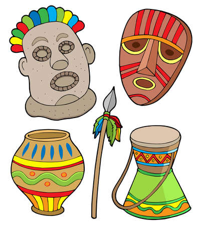 African tribal collection - vector illustration. Vector