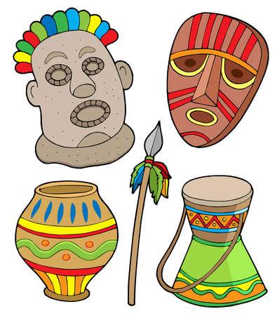 ilustraciones africanas: Recogida tribales de �frica - ilustraci�n vectorial.