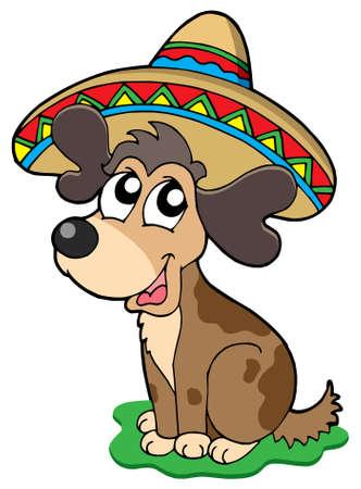 Cute Mexican dog - vector illustration. Stock Vector - 3952983