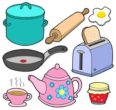 Huispersoneel verzameling 1 - vector illustration.