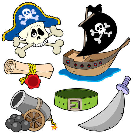 Pirate collection 3 - vector illustration. Vetores
