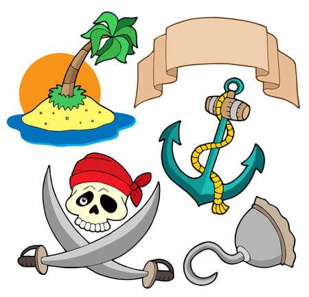 filibuster: Pirata insieme 4 - illustrazione vettoriale.