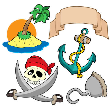 anchors: Pirate collection 4 - vector illustration.