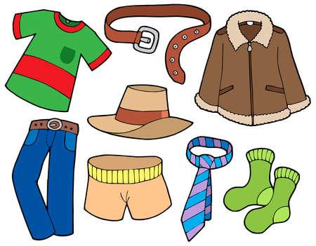 kemer: Man clothes collection - vector illustration. Çizim