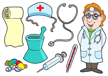 dr: Medical collection - vector illustration.