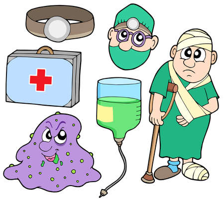 wounded: Medical collection 2 - vector illustration.