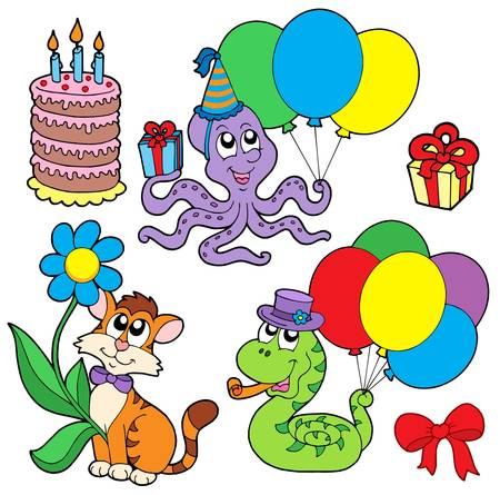 happy feast: Party animals collection - vector illustration.