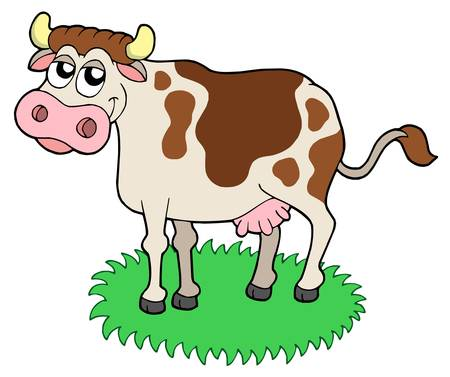 Cute cow - vector illustration. Stock Vector - 4012150
