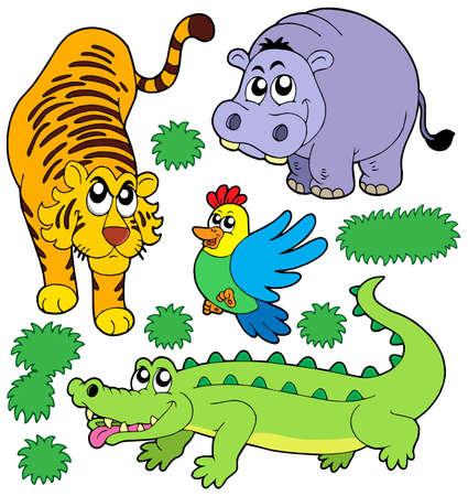 zoo animals: ZOO animals collection 5 - vector illustration.
