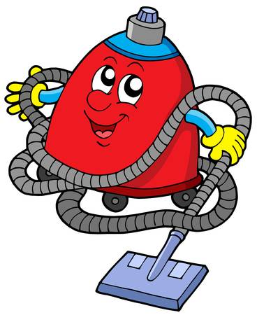 Twisted vacuum cleaner - vector illustration. Vector