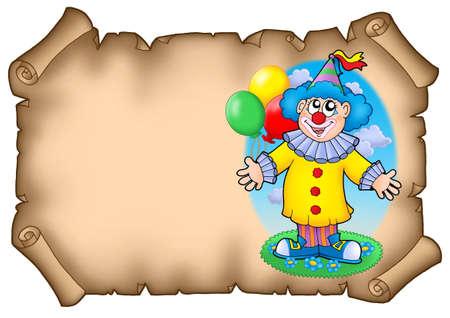 showman: Parte de invitaci�n con payaso - color ilustraci�n.