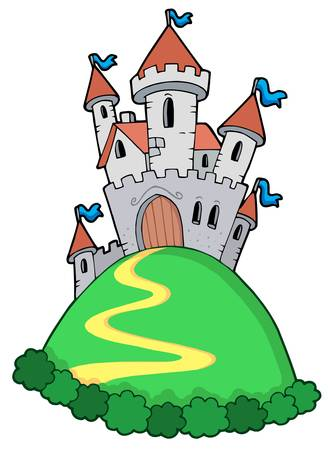castle tower: Fairy tale castle - vector illustration.