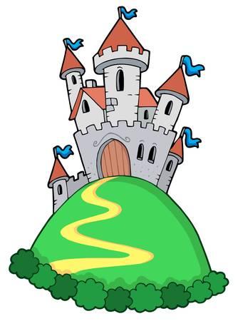 castello fiabesco: Fiaba castello - illustrazione vettoriale.