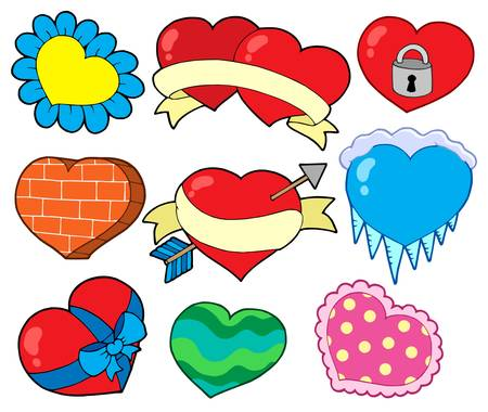 Valentine hearts collection 2 - vector illustration. Vector