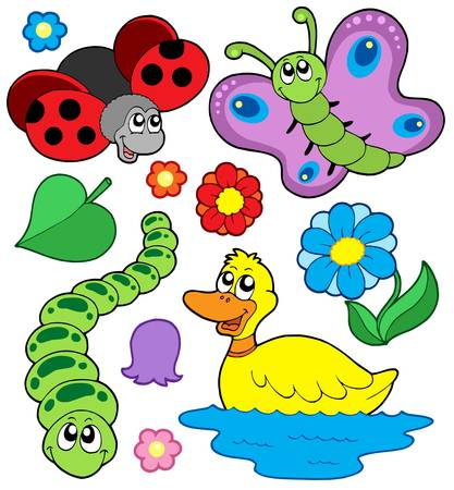 Small animals collection 4 - vector illustration. Vector