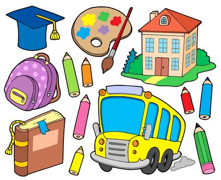 School collection 1 - vector illustration. Vector