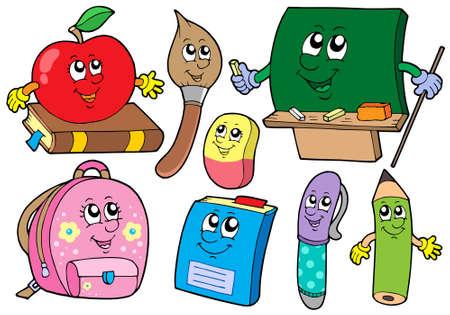 Cartoon school illustrations collections - vector illustration. Vector