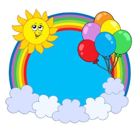 arco iris vector: Parte arco c�rculo - ilustraci�n vectorial.