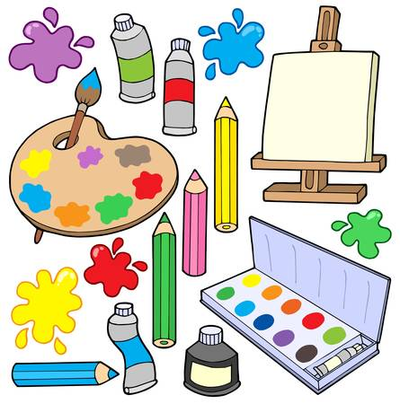 ink art: Fine arts collection 1 - vector illustration.