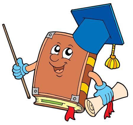 degree: Prenota insegnante - illustrazione vettoriale.