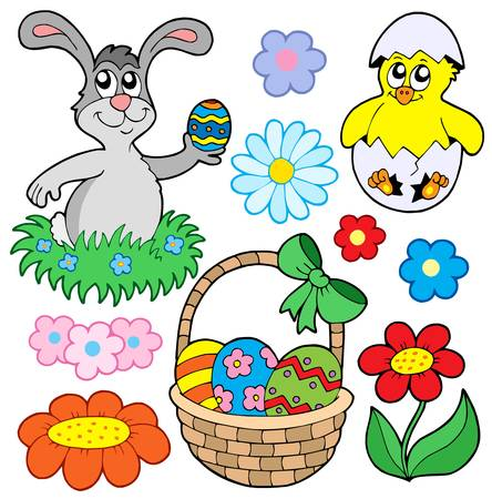 ribbon vector set: Easter collection 01 - vector illustration.