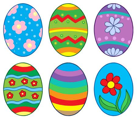 Easter eggs collection 1 - vector illustration. Vector